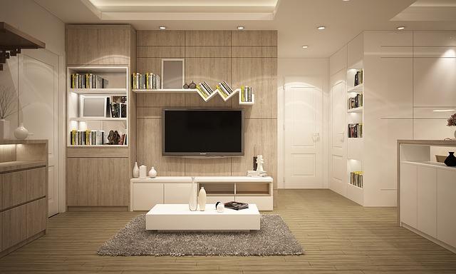 Modern szekrénysor a nappaliban